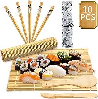 BESTZY 10pcs Kit para Hacer Sushi de Bambú Preparar Sushi F