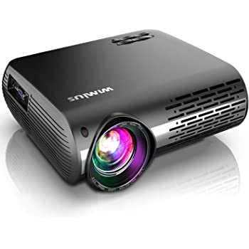 Projector, WiMiUS Newest P20 Native 1080P Video Projector, 10000:1 Contrast Ratio Support 4K, ±50° Correction, 50% Zoom, 10W Speaker Compatible with PC Laptop Chromecast USB Fire TV Stick Smartphones