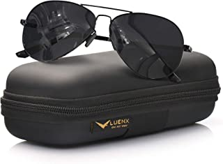 Aviator Sunglasses for Men Polarized – UV 400 Protection with case 60MM Classic Style
