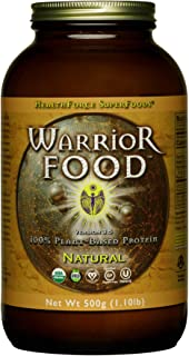 HealthForce SuperFoods Warrior Food, Natural - 500 Grams - Plant-Based Protein Powder with Minerals & Pea Protein - Certif...