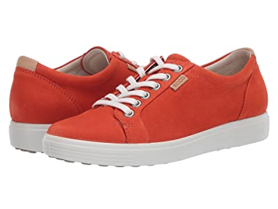 ECCO Soft 7 Sneaker (Fire/Fire Nubuck) Women