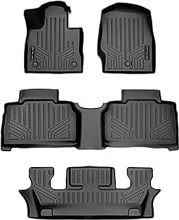 SMARTLINER All Weather Custom Fit Floor Mats 3 Row Liner Set Black for 2020 Ford Explorer Only Fits 6 Passenger Models