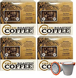 Fresh Roasted Coffee LLC, Mocha Java Coffee Pods, Medium Roast, Artisan Blend, Capsules Compatible with 1.0 & 2.0 Single-Serve Brewers, 72 Count