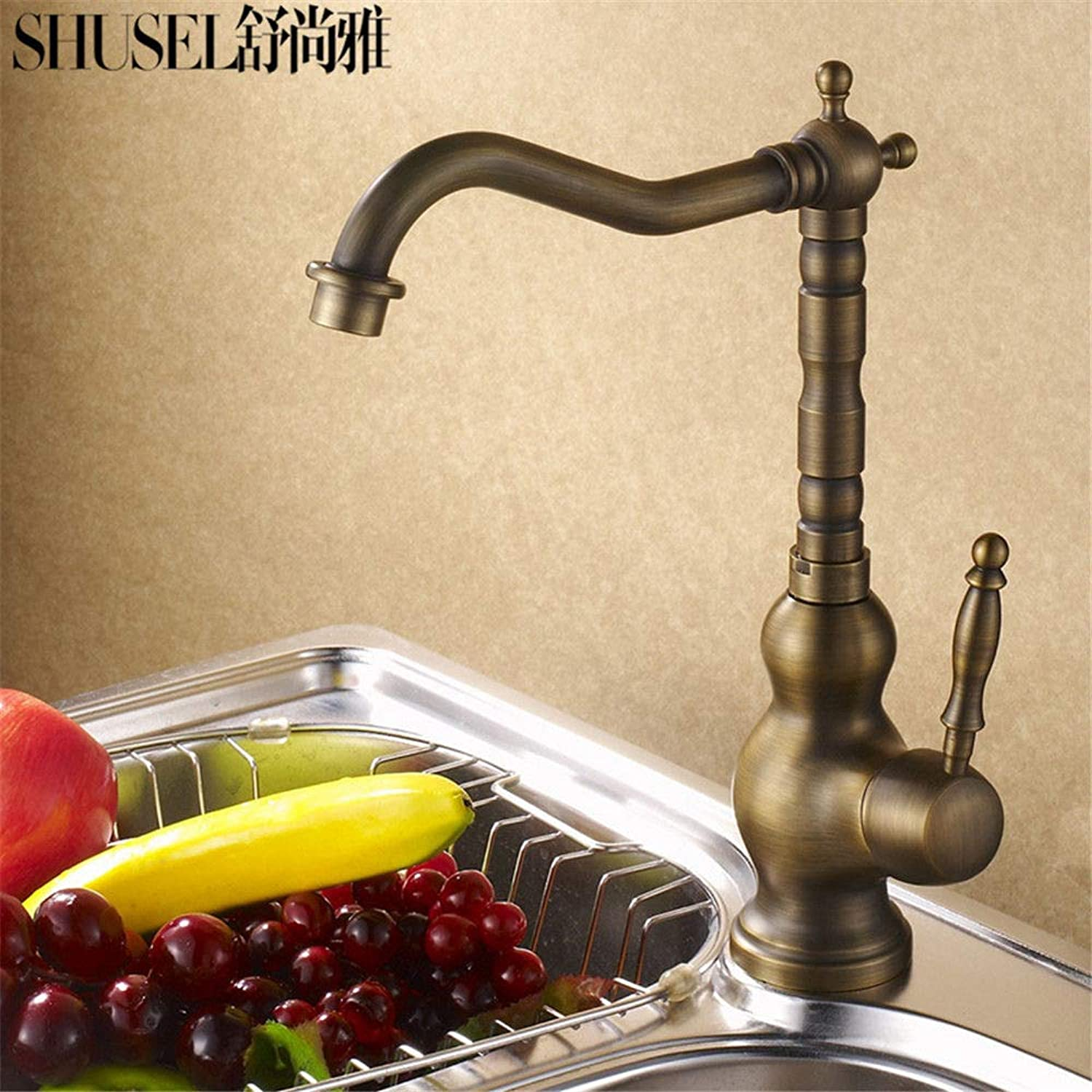 Commercial Single Lever Pull Down Kitchen Sink Faucet Brass ...