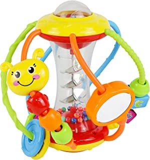 HOLA Baby Toys 6 to 12 Months,Baby Rattles Activity Ball,Shaker,Grab and Spin Rattle,Crawling Educational Learning Sensory...