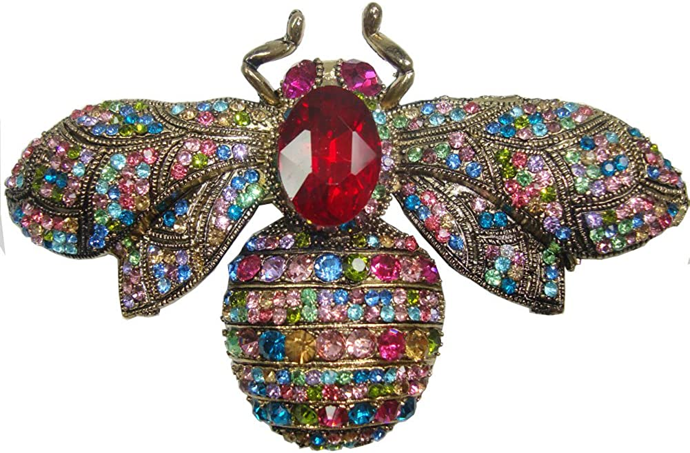 TTjewelry Charming Max 68% OFF Bee Insect Brooch Rhinest Arlington Mall Crystal Austria Pin