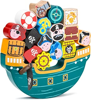 Imagination Generation Blockbeard's Balance Boat Balancing Game (18 Pieces)