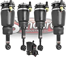 Front & Rear Air Ride Suspension Air Struts w/Air Compressor Pump & Solenoid Valves Compatible with 2003-2006 Lincoln Navigator