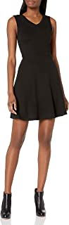 Armani Exchange A|X Women's V Neck Fit and Flare Dress