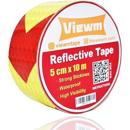 10 x Reflective HEART Stickers Sticker//Reflector Foil Carport Yellow Heart