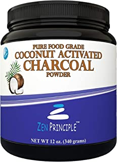 LARGE 12 Oz. Coconut Activated Charcoal Powder. Whitens Teeth, Rejuvenates Skin and Hair, Detox and helps D...