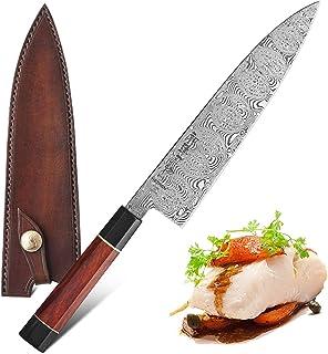 210mm Gyuto Couteau de chef japonais 110 couches de cuisine en acier Damas Couteaux cuisine professionnelle Trancheuse de ...