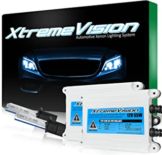 XtremeVision 55W AC Xenon HID Lights with Premium Slim AC Ballast - H1 6000K - 6K Light Blue - 2 Year Warranty