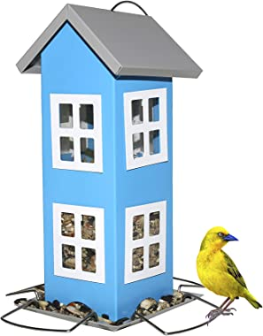 Sherwoodbase Ridge - Wild Bird House Feeder, Weatherproof Design for Easy Cleaning & Refills, Comes with Hook to Hang on Tree