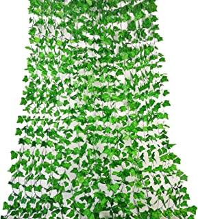 Rurality 192 Feet - 24 Fake Vines Decorations Artificial Leaf Garland Ivy Garland for Wedding Decorations Patio Wall Decoration