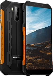 Ulefone Armor X5 Rugged Cell Phones Unlocked (2019), 5.5 inch Screen, Android 9.0, 3GB + 32GB, 13MP + 2MP Dual Rear Cameras, Waterproof, Military Grade Smartphone, Face ID, NFC, OTG, WiFi -Orange