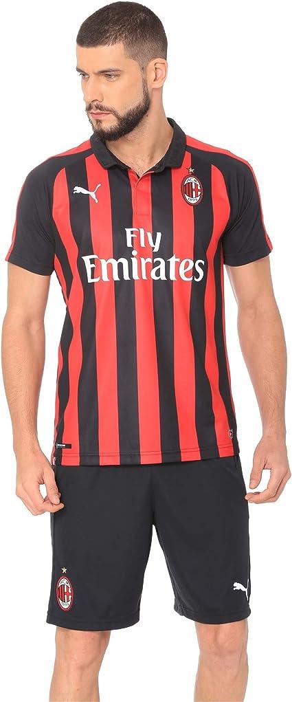 PUMA 2018-2019 AC Milan Home Football Soccer T-Shirt Jersey