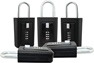 Lion Locks LS-8900 REALTOR Key Lock Box - 5 Pack Lockbox Combination 4 Pin Dial Safe Vault - Portable Outdoor Stor a key - Door Handle or Fence Mount - Heavy Duty Slimline Storage