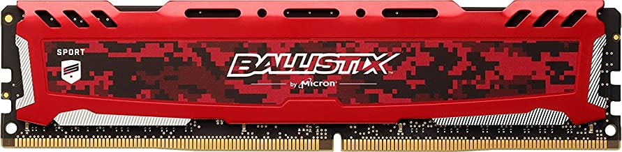Crucial Ballistix Sport LT 2400 MHz DDR4 DRAM Desktop Gaming Memory Single 16GB CL16 BLS16G4D240FSE (Red)