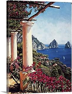 Pergola in Capri Canvas Wall Art Print, 18