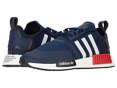 adidas Originals Kids NMD_R1 C (Little Kid) (Collegiate Navy/Footwear White/Scarlet) Kids Shoes