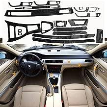 Xotic Tech 5D Glossy Reflective Carbon Fiber Wrap Trim Decal Vinyl Interior Sticker for BMW 3 Series E90 2005-2012