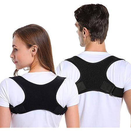 Correttore Postura, Spalle Schiena Supporto per Uomo e Donna, Regolabile e Traspirante Indietro a Fascia Postura Correzione Cintura Che Fornisce Sollievo dal Dolore per il Collo Schiena Spalle