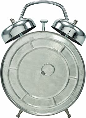 Assemblage Clock by Tim Holtz Idea-ology, 7 Inches Tall, Polished Silver Finish, TH93065