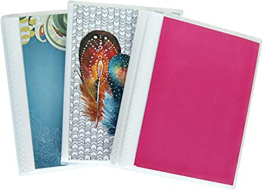 CocoPolka 4 x 6 Photo Albums Pack of 3 - Watercolors, Each Mini Photo Album Holds Up to 48 4x6 Photos. Removeable, Flexible C