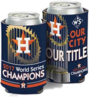 WinCraft Houston Astros OUR TITLE World Series Champions Can Koozie Cooler