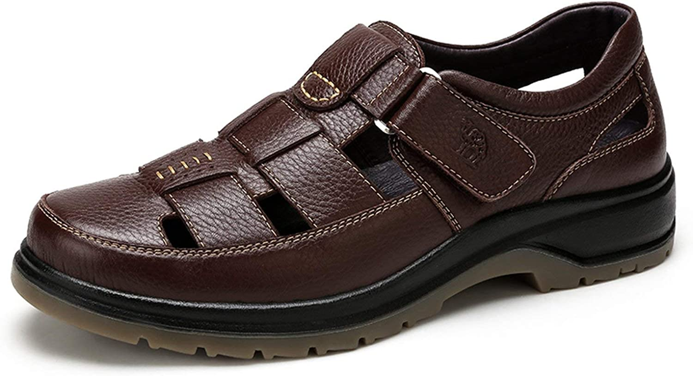Men's Sandals Genuine Leather Men shoes Soft Business Man Sandal Casual shoes
