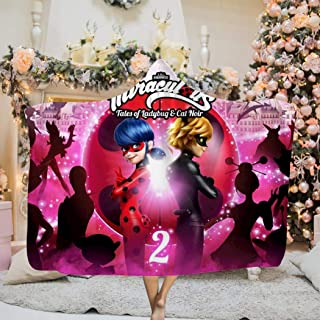 others We All Have_Miraculous The Right_Ladybug Wearable Hooded Blanket Hood Poncho Cloak Cape Throw Soft Warm Novelty Blanket for Kids Adults 50 x 60 inch