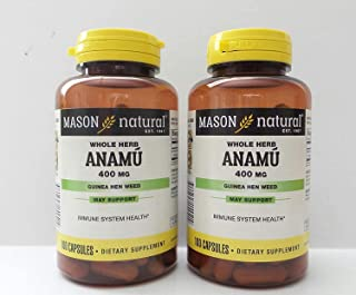 2 Pack Special of MASON NATURAL ANAMU CAPSULES 100 per bottle