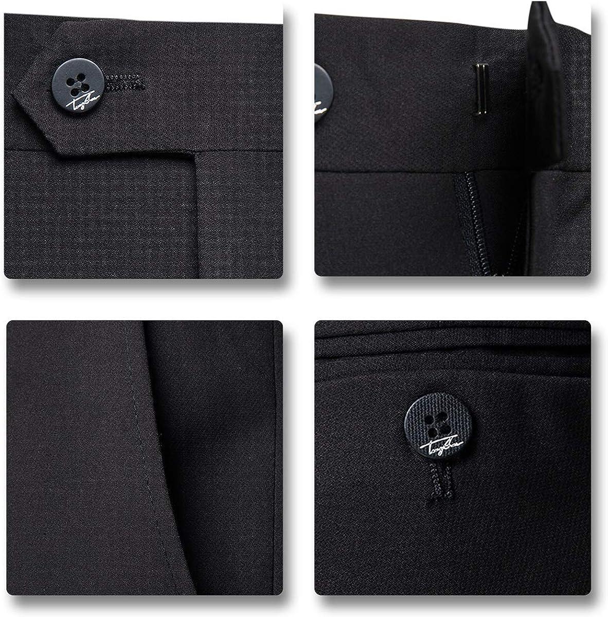 AOWOFS Mens Suits 2 Piece Slim Fit Casual Formal Wedding Tuxedo Suit for Men Blazer Jacket/&Trouser