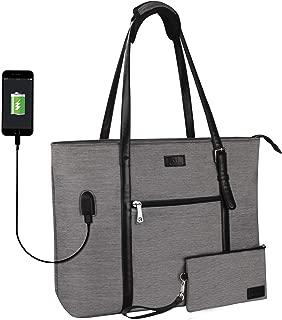 USB Laptop Tote Bag,Large Woman Work Bag Purse Teacher Bag Fits 15 Inch Laptop