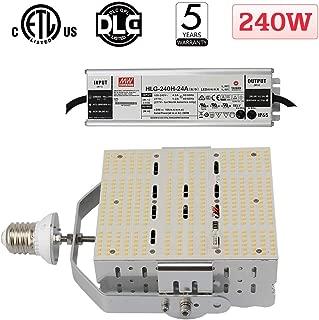 240 Watt Shoebox LED Retrofit Kit, 1000W MH Replacement 5700K Cool White 33,600 Lumens E39 Mogul Base LED Retrofit Lights for Parking Lot/Street Area Tennis Court Canopy Flood Lighting Fixture ETL DLC
