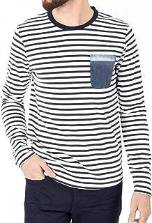 Scotch & Soda Long Sleeve Navy/White Striped Shirt w/Pocket