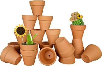 My Urban Crafts 20 Pcs Small Mini Clay Pots 2.1 inch Mini Terracotta Pots Clay Ceramic Pottery Planter Cactus Flower Pots ...