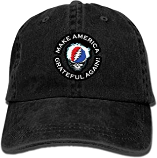 Men Women Camp Hair Make America Grateful Again Cotton Denim Baseball Hat Adjustable Street Rapper Hat