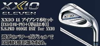 DUNLOP(ダンロップ) XXIO 11 ゼクシオ11 ゼクシオ イレブン アイアン 7本セット [番手I#6~PW+(単品2本)] N.S.PRO 860GH DST for XXIO スチールシャフト メンズゴルフクラブ 右利き用 ネイビー