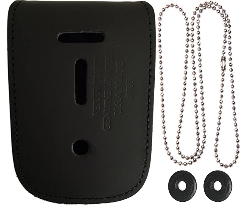 Universal Leather Neck Chain Badge And ID Holder