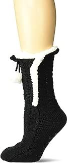 Women's Fuzzy Babba Pom Cozy Warmer Sock