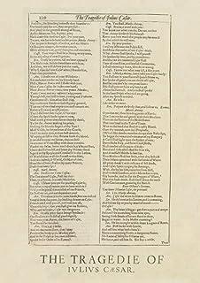 Notebook: JULIUS CAESAR 1623 William Shakespeare First Folio [120 & 121] Colour Reproduction [Act III, Scene 1] Cry hauock...
