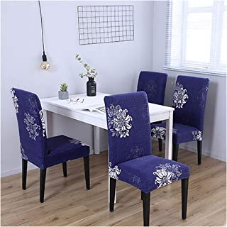 Toddor Chair Covers Dining Green Chair Covers with Back Leaves Covers for Dining Room Chairs,2,1Pcs