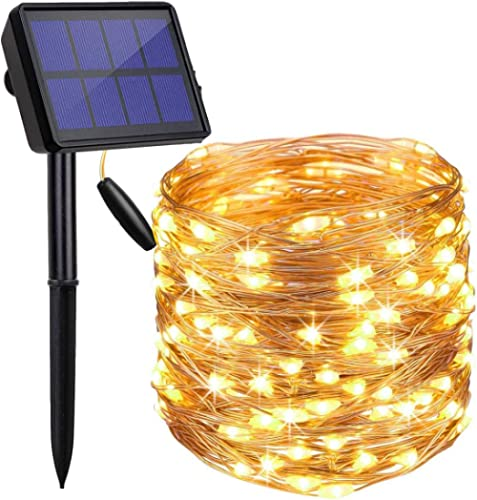 LED Solar String Lights Outdoor, Findyouled 20M 200 LED Solar Powered Fairy Light with 8 Lighting Modes,Waterproof Ou...