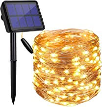 LED Solar String Lights Outdoor, 20M 200 LED Solar Powered Fairy Light with 8 Lighting Modes,Waterproof Outdoor Solar Ligh...