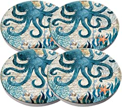 KristiPeterson Octopus Custom Fashion Personalized Exquisite Ceramic Coasters 4 Pieces Sets Of Christmas Gifts
