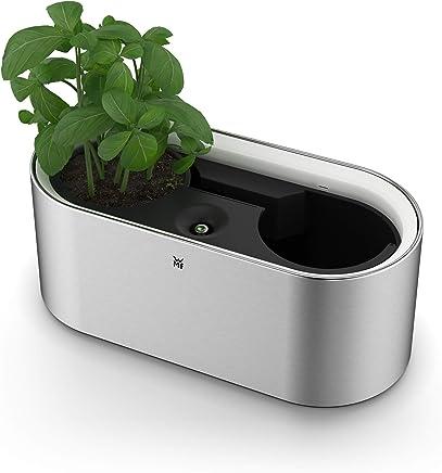 WMF AMBIENT Kräuter@home, elektrischer Kräutergarten für 2 Kräutertöpfe, Übertopf mit Selbstbewässerungssystem, per Fingertipp (Easy Touch) steuerbares LED-Licht