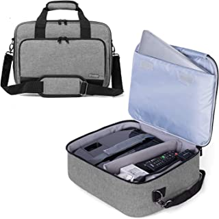 Luxja Projector Case, Projector Bag with Protective Laptop Sleeve, Projector Carrying Case with Accessories Pockets, Large...