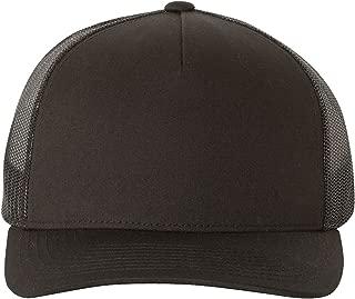Yupoong 5-Panel Retro Trucker Snapback Hat - 6506 by Flexfit (One Size, Black)